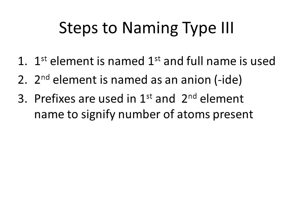 Type III Binary Compounds ppt video online download – Binary Compounds Worksheet