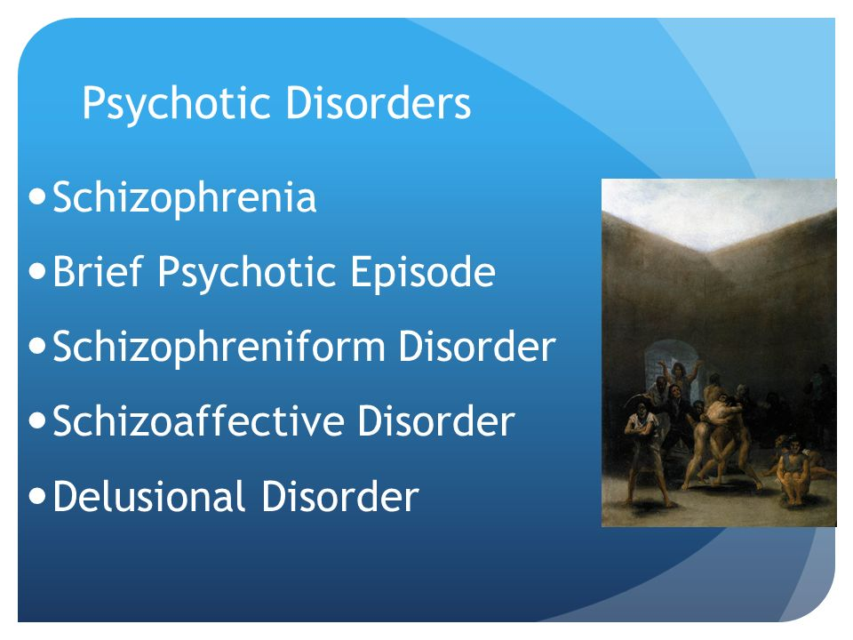 schizoaffective and brief psychotic disorder Brief psychotic disorder: symptoms of brief psychotic disorder are the same as for schizophrenia however, they appear suddenly and are often.