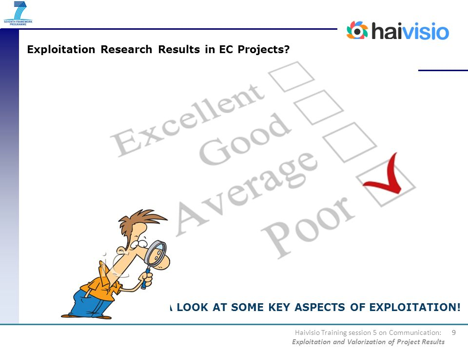 Exploitation Research Results in EC Projects