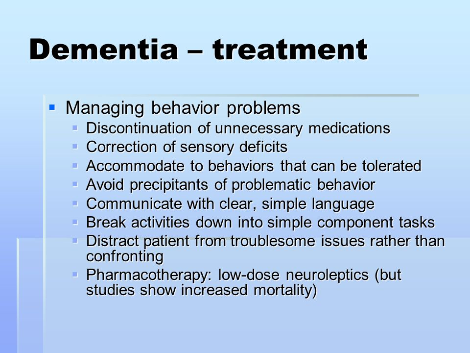 Vascular dementia and sexual activity