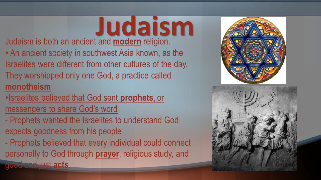 is judaism a religion Judaism is classified as an ethnic rather than a universalizing religion, primarily because a) it commemorates the exodus from egypt b) its main holidays relate to the events in the life of its founder, abraham c) it uses a lunar calendar d) its rituals derive from the agricultural cycle in israel e) the holy text is the foundation of the religion.