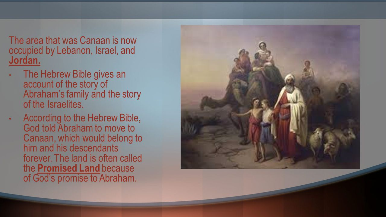 lesson 6 1 the beginning the israelites ppt video online download