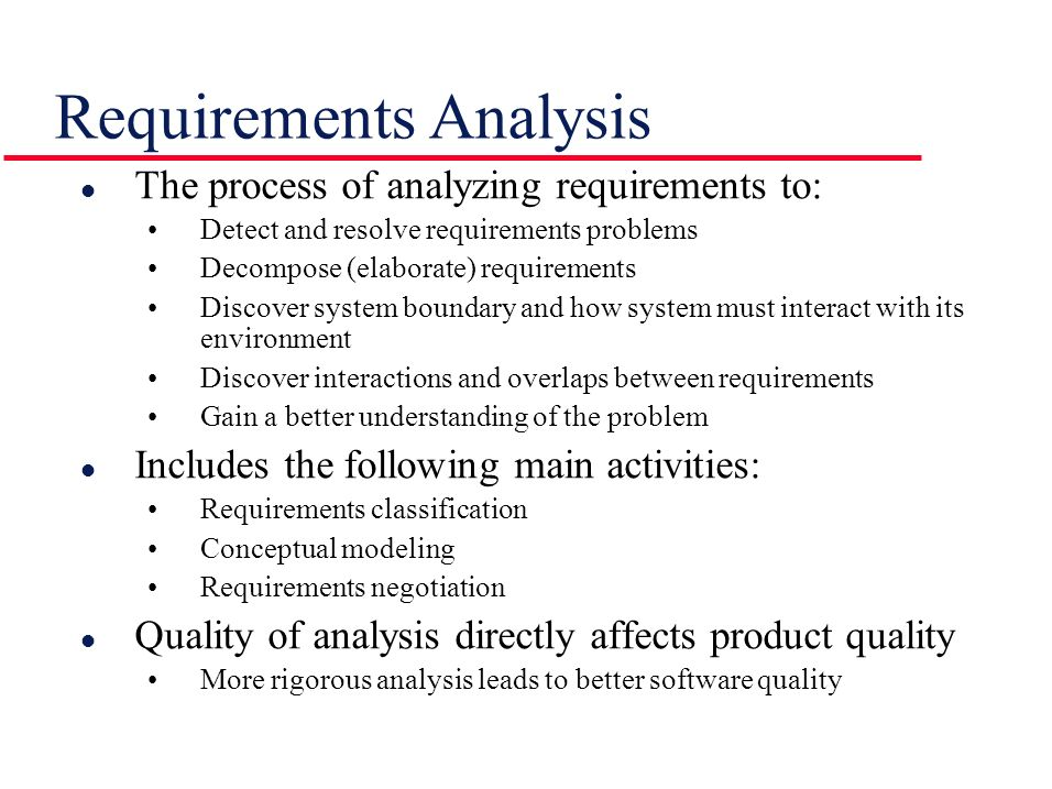 Requirements Analysis  Ppt Video Online Download