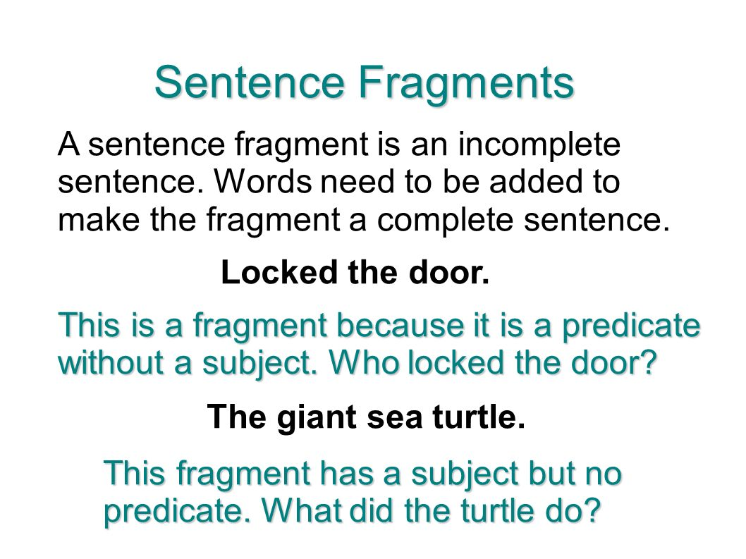 how to write sentences without and