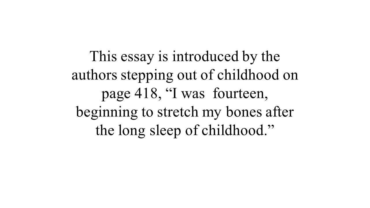 my childhood memories essay in english Essay writing guide my childhood memory i had just had my third birthday and loved to go to the i will never forget 11092003 eleanor simms english.