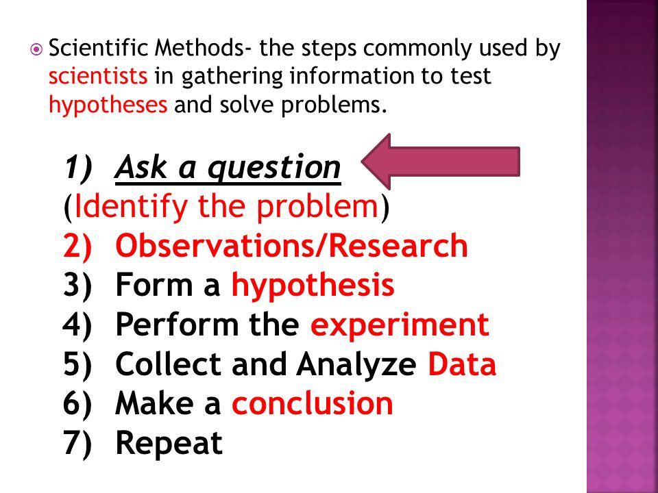 Form A Hypothesis Scientific Method - More info