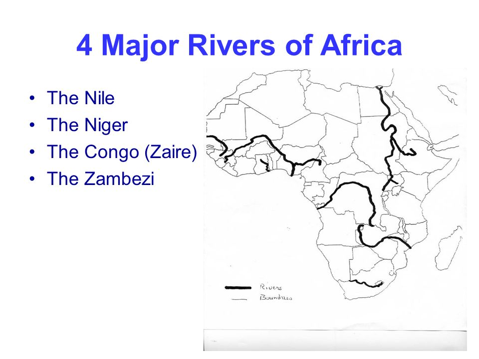 The Most Diverse Continent In The World Ppt Video Online Download - Important rivers in africa