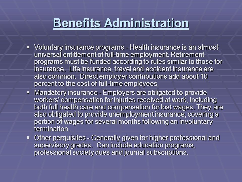 benefit programs and compensation administration essay Discover core foundation courses, salary administration, incentive compensation,  executive compensation, relocation planning, employee benefit programs, tax.