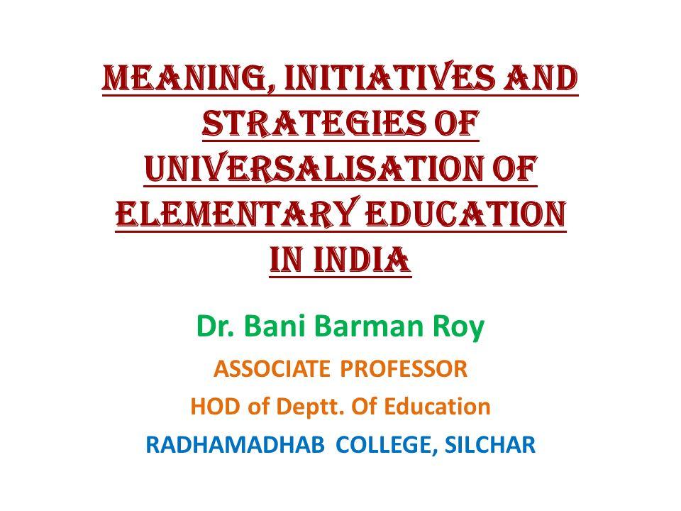 universalisation of education india