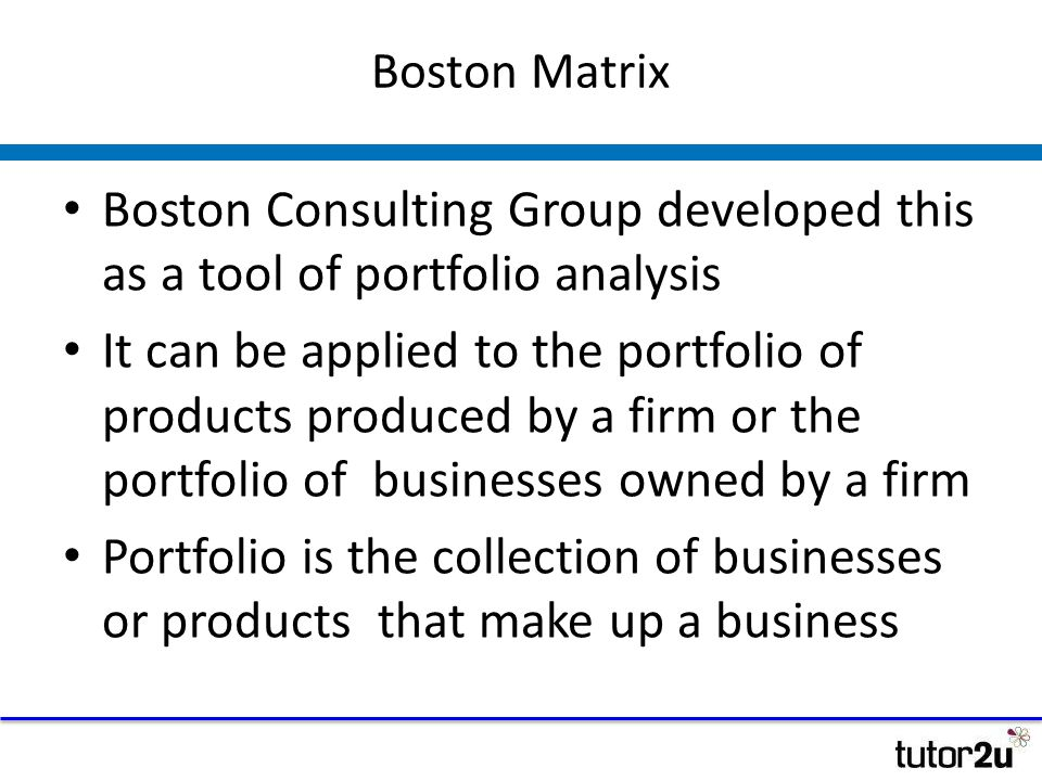 The boston consulting group an analysis