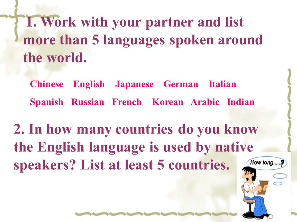 ENGLISH AROUND THE WORLD Ppt Video Online Download - List of languages spoken in the world