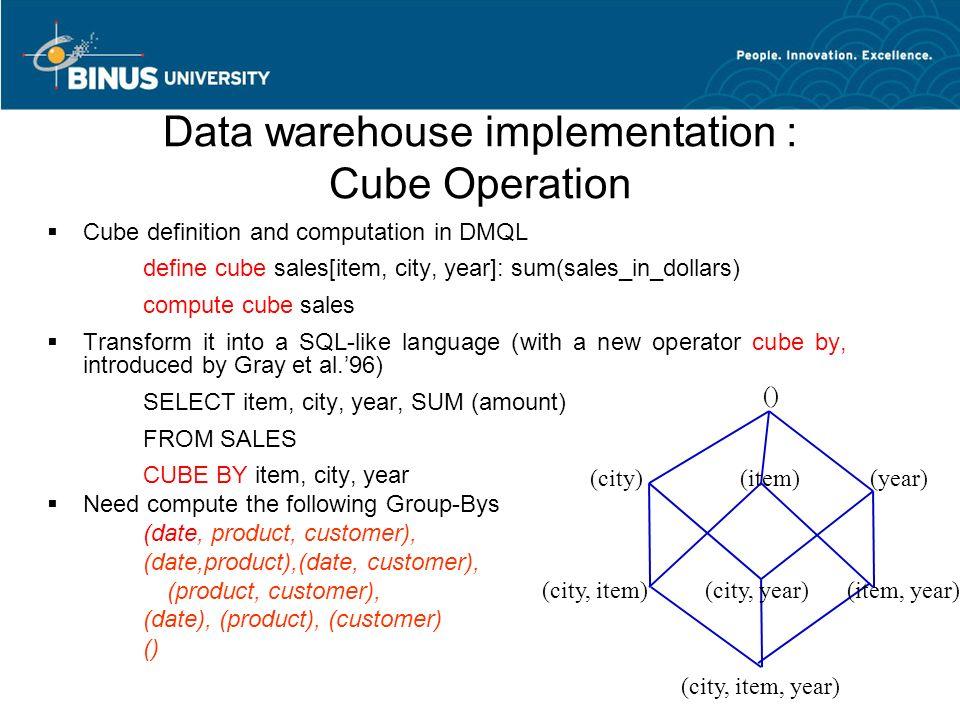 Data Cube Implementation - #GolfClub
