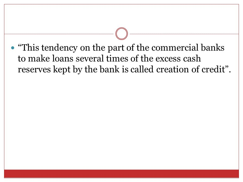 credit creation by commercial banks pdf