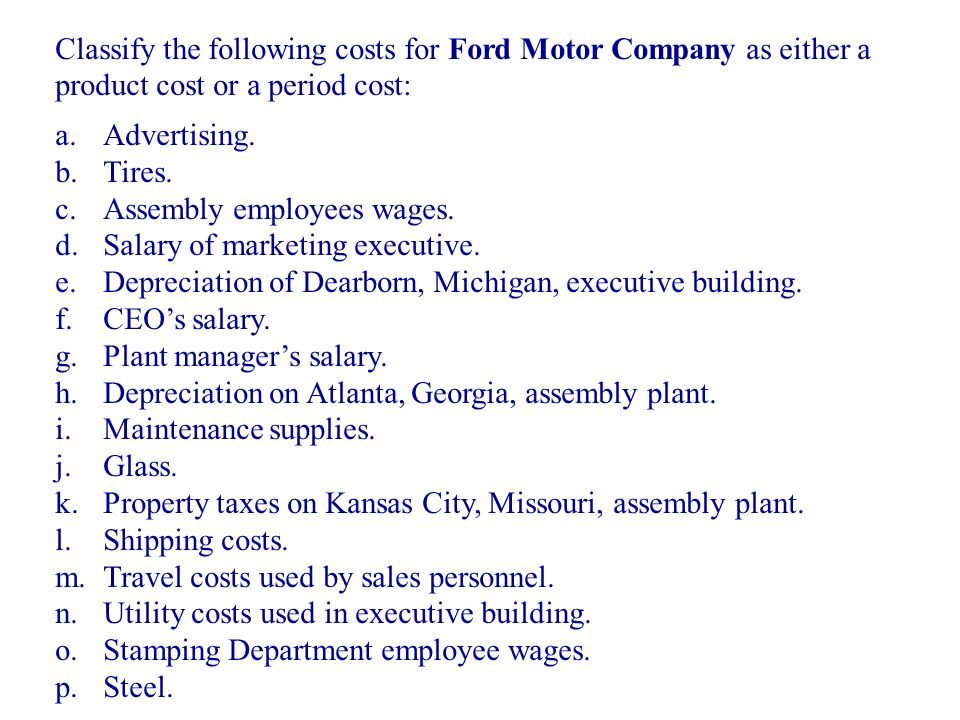 Accounting systems for manufacturing businesses ppt for Ford motor company atlanta georgia