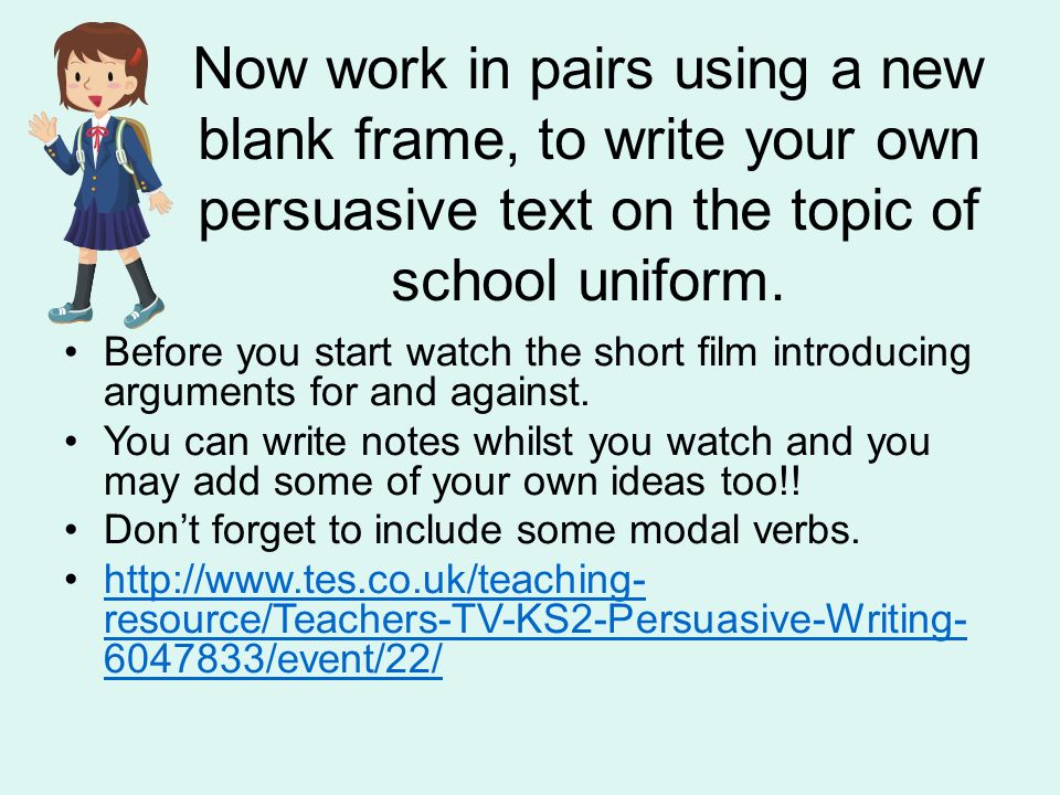 persuasive essay writing frame Genres in academic writing: essays introduction almost all students will at some time be expected to write an essay the persuasive essay c.
