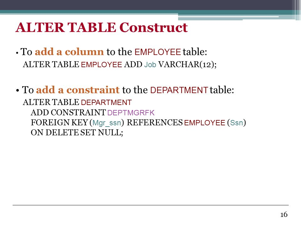 Introduction to database systems ppt video online download - Alter table add foreign key ...