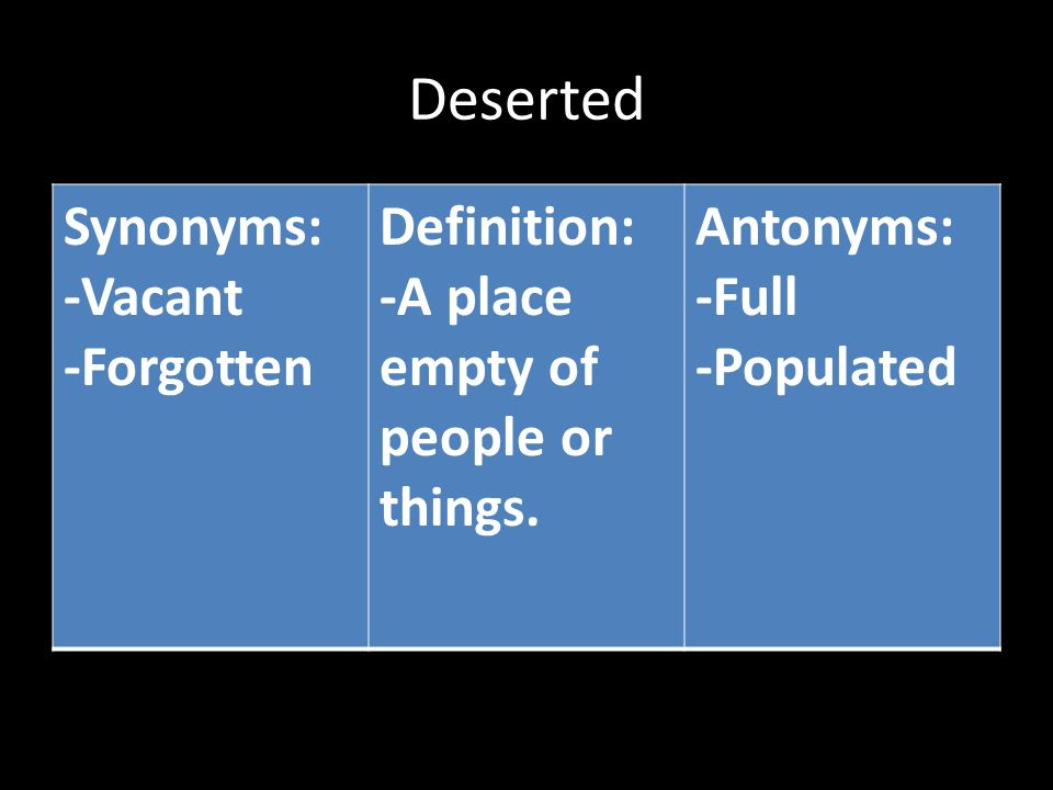 deserted definition Potential evapotranspiration supplements the measurement of precipitation in providing a scientific measurement-based definition of a desert.