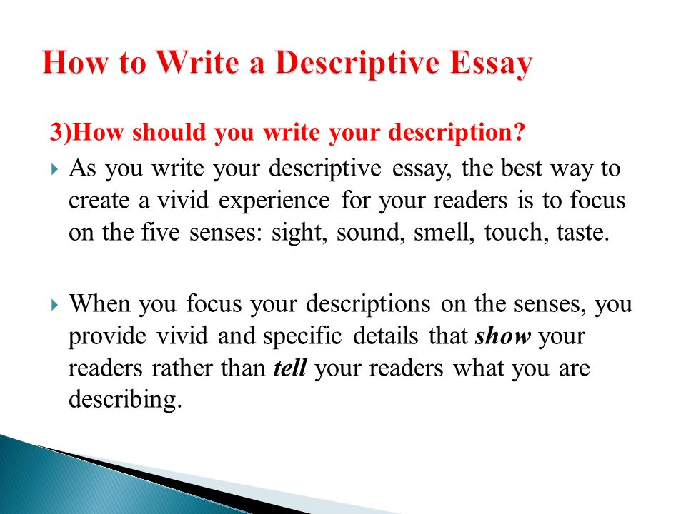 descriptive writing ppt video online  how to write a descriptive essay