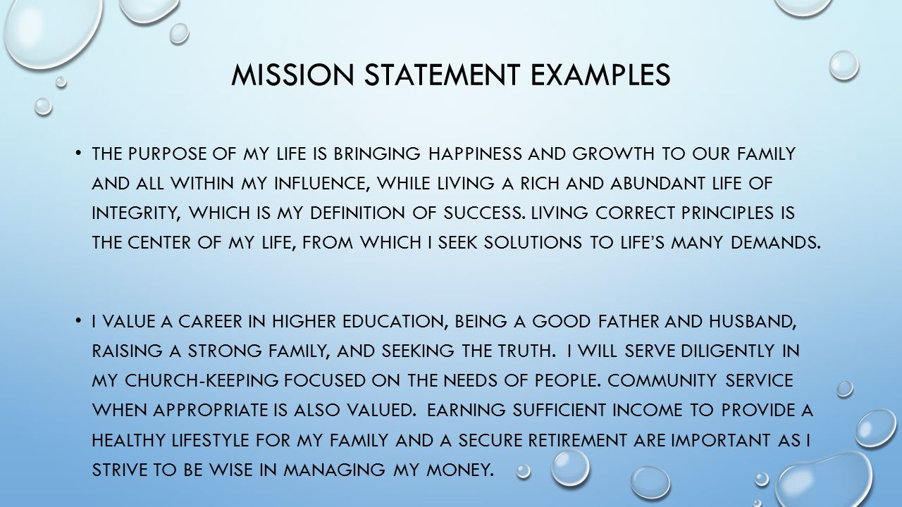 Importance Of A Mission Statement And