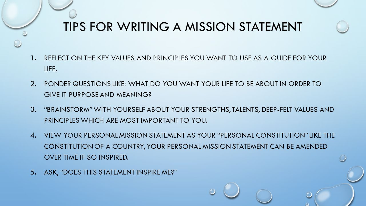 How to write a mission statement for a restaurant