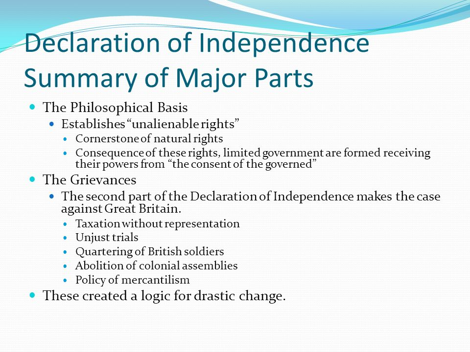 an analysis of the abstractions in the declaration of independence written by thomas jefferson A short summary of thomas jefferson's the declaration of independence (1776)   the declaration of independence, written by thomas jefferson and adopted.
