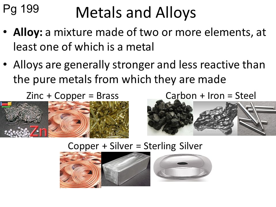 alloys and pure metals