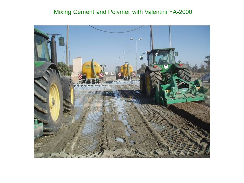 Mixing Cement and Polymer with Valentini FA-2000