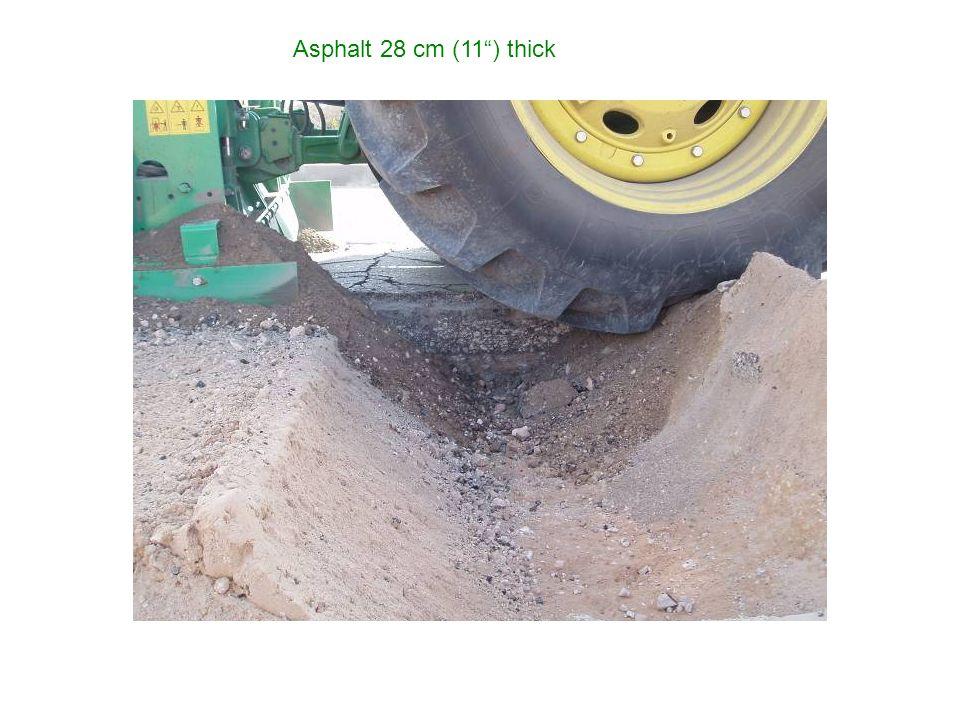 Asphalt 28 cm (11 ) thick