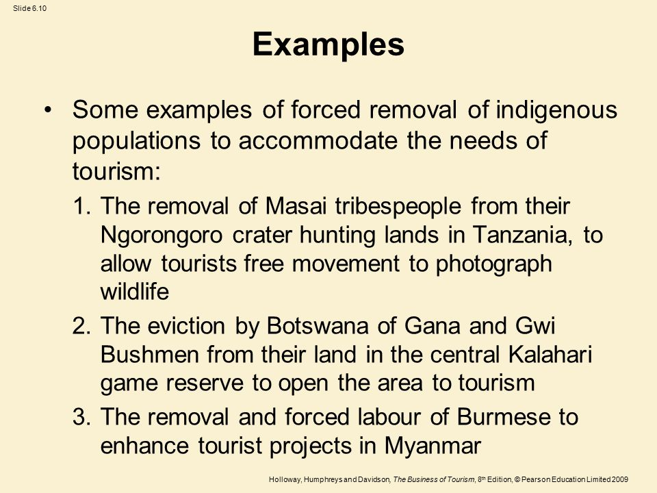 the impact of tourism on wildlife Tourism revenues which actually accrue to them and on-going trends in land tenure, land use and livelihood patterns which impact on wildlife and their habitat the contribution of wildlife tourism to the national economy tourism forms an important component of national income in many east and southern african countries.