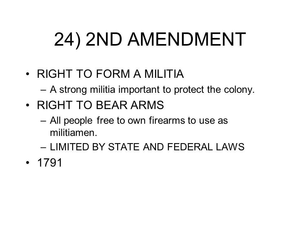 CHAP 3 QUIZ IDENTIFY THE CORRECT AMENDMENT OR FIND THE CORRECT ...