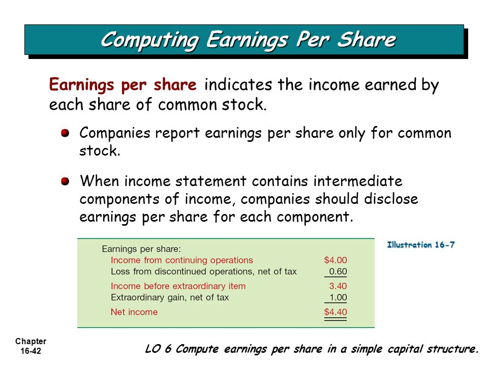 earning per share Earnings per share (eps) is the portion of a company's profit allocated to each  outstanding share of common stock earnings per share serves as an indicator of .