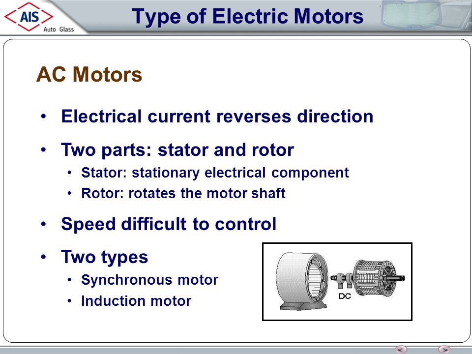 Types of stator motor for Types of dc motor