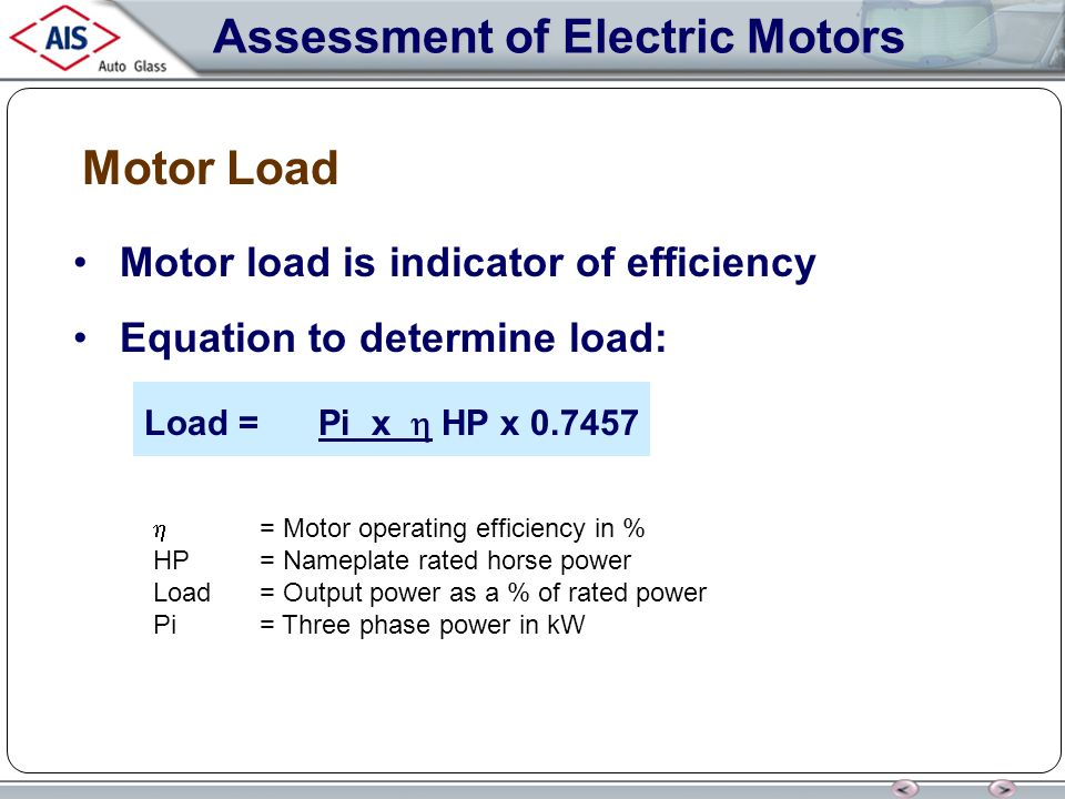 Load Indicator Rated Capacity Indicator : Electric motors ppt download