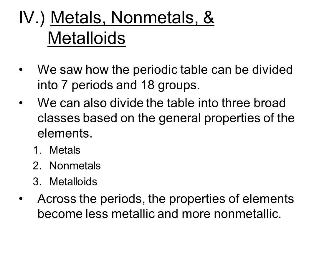 The periodic table chapter ppt video online download metals nonmetals metalloids gamestrikefo Images