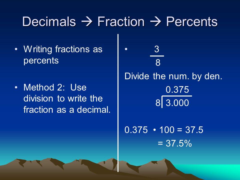 Fractions, Decimals, and Percents - ppt video online download