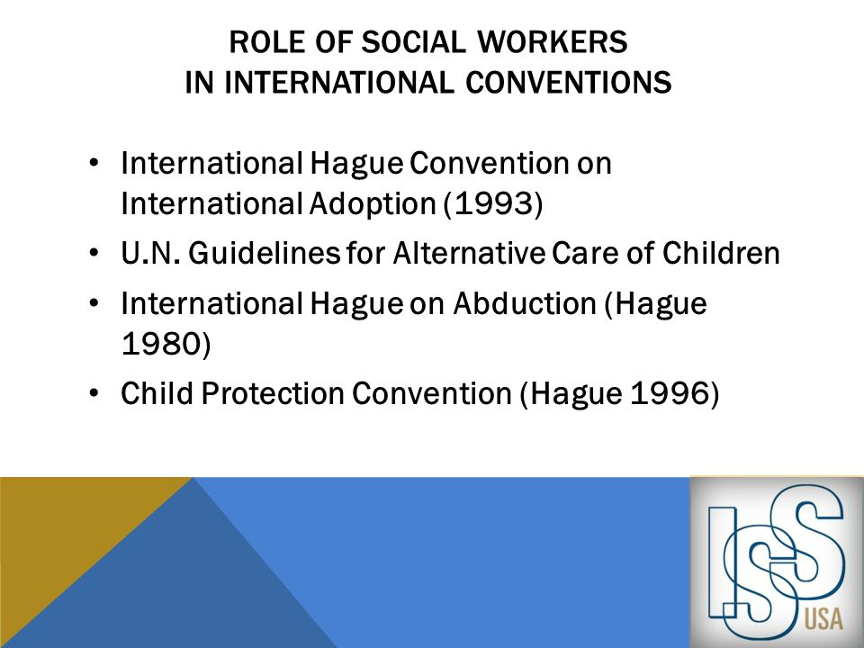 Role of social workers in international conventions