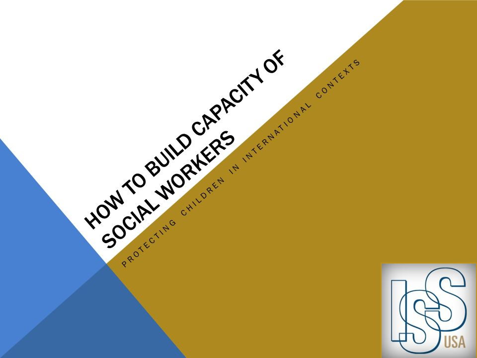 How to build capacity of social workers