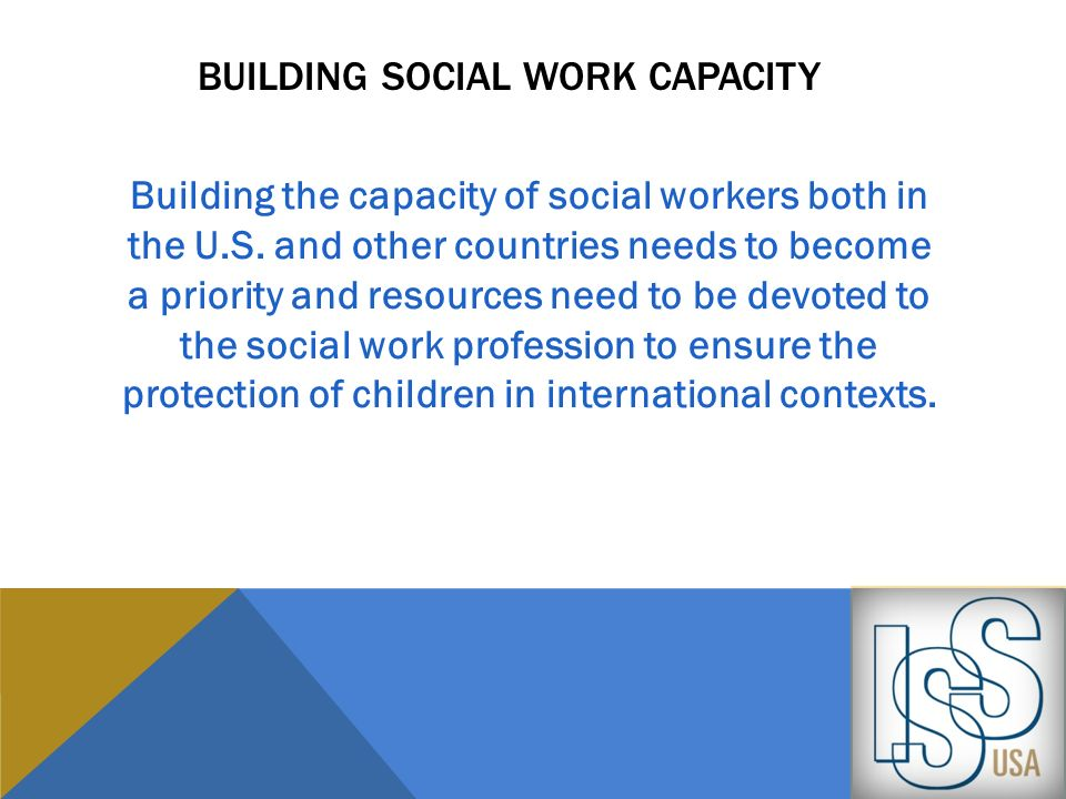 Building social work capacity
