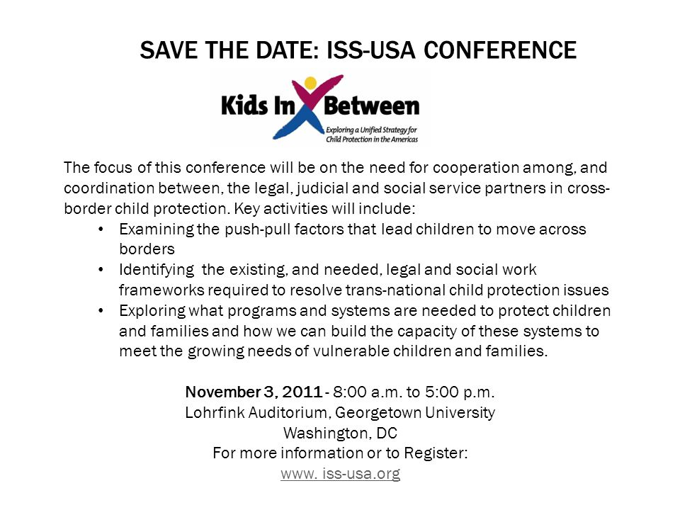 Save the Date: ISS-USA Conference