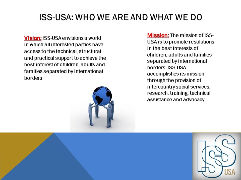 Iss-usa: who we are and what we do