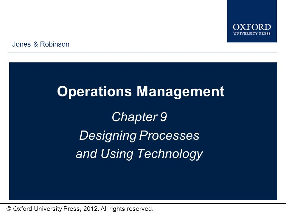 operations management paper