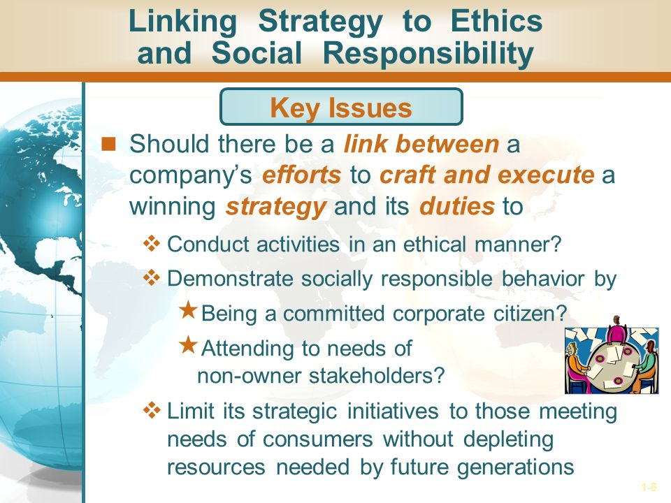 Role of Ethics and Social Responsibility For Strategic Plan