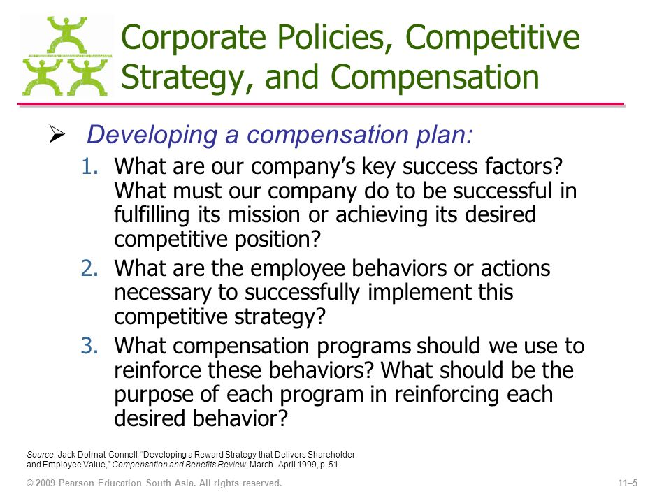 Strategic Plan for Employee Compensation and Benefits