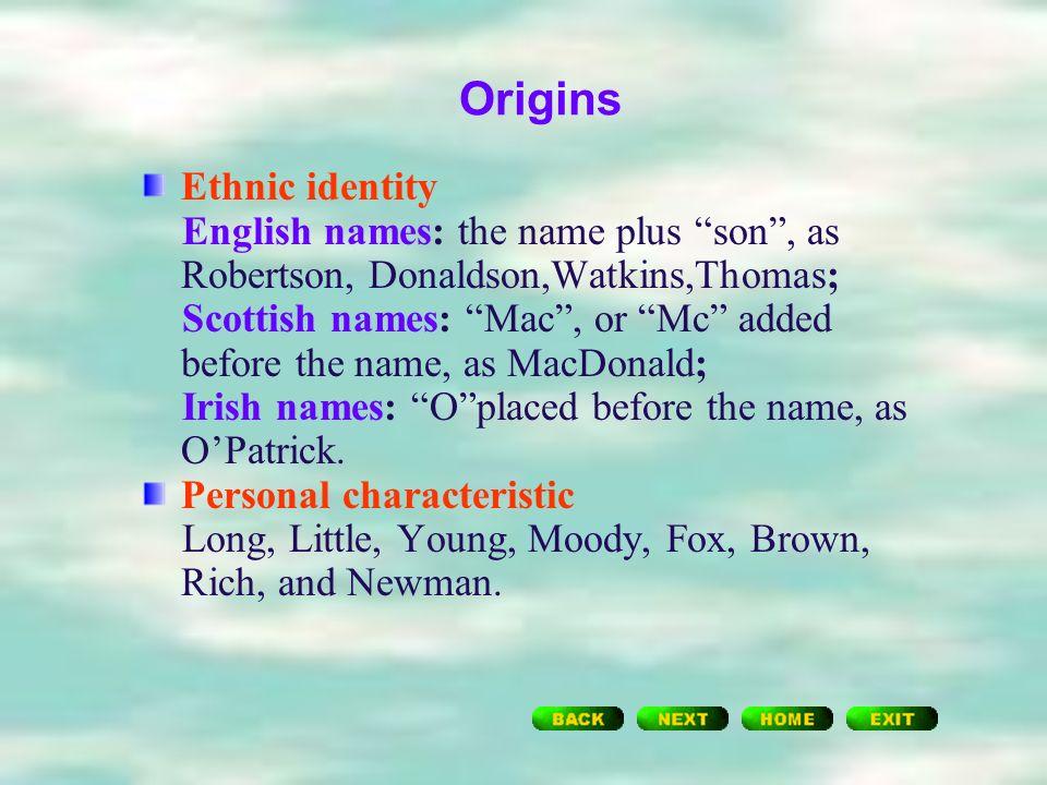 14 Origins Ethnic Identity