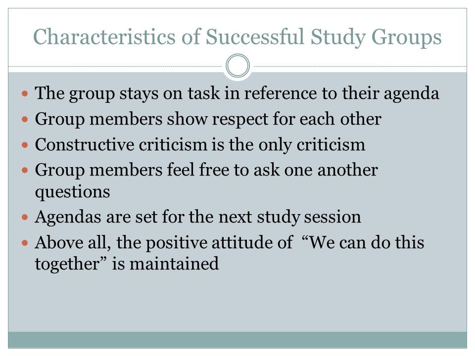 advantage of study group While there is a lot of online correspondence between professors and students,  including virtual study groups, college students who thrive on.