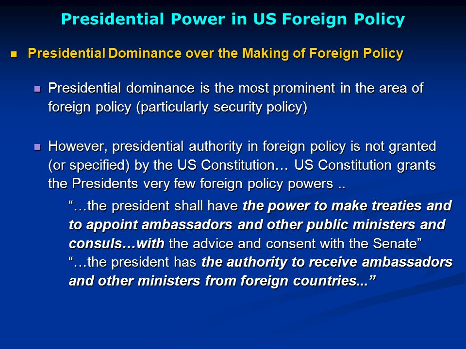 American Politics and Foreign Policy - ppt video online download