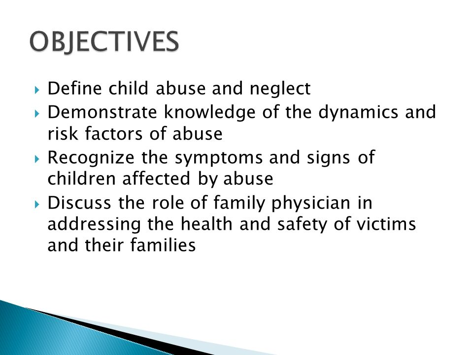 Child abuse and neglect overview