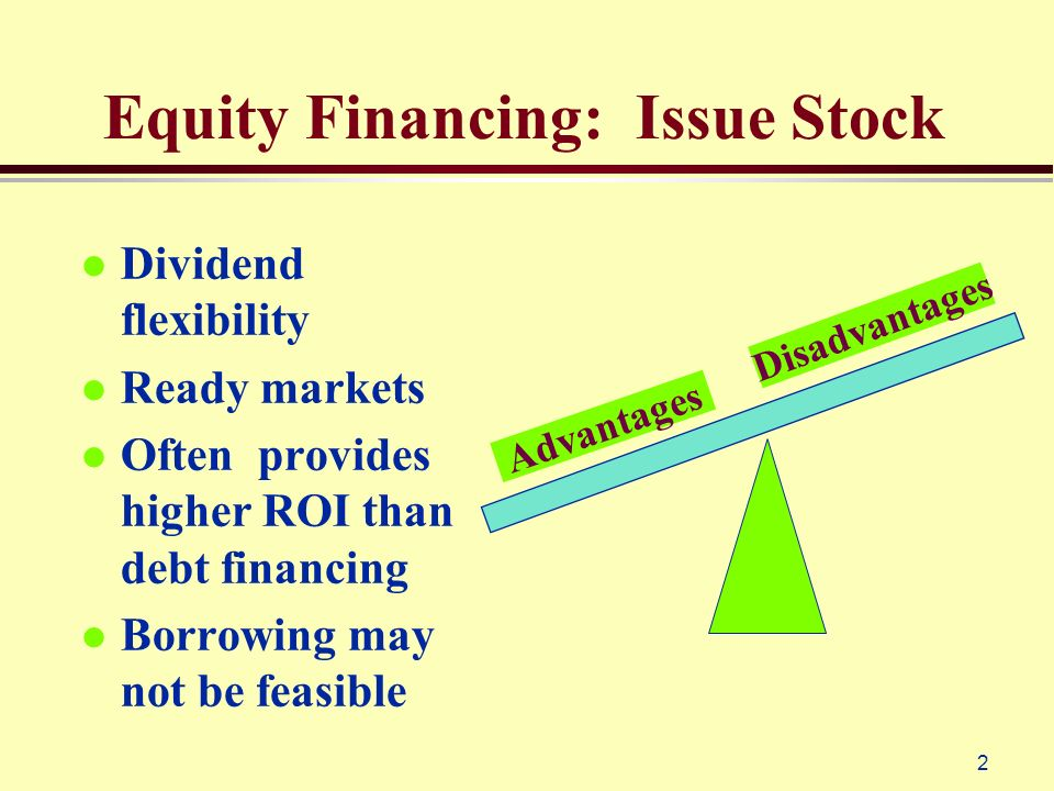 debt financing and equity financing pdf