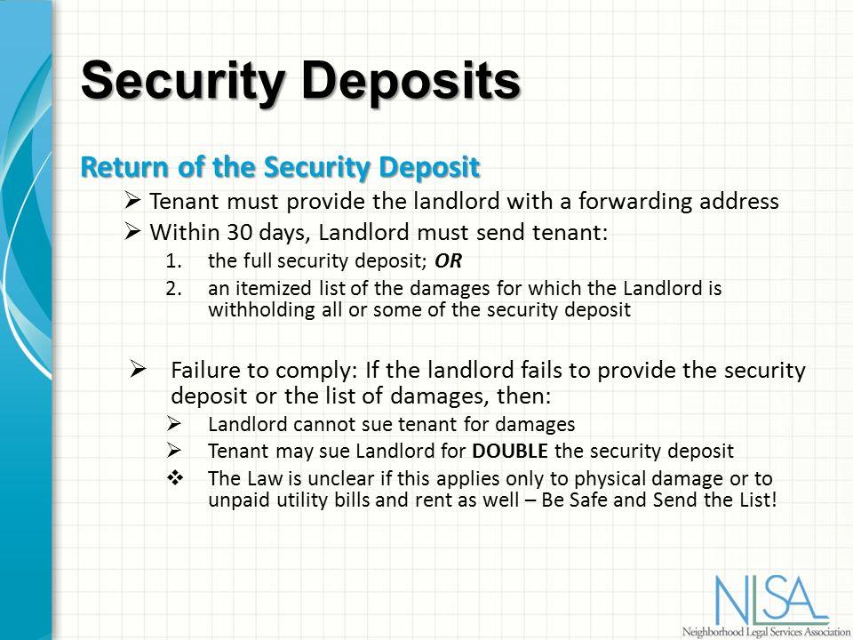 No Forwarding Address For Security Deposit Letter