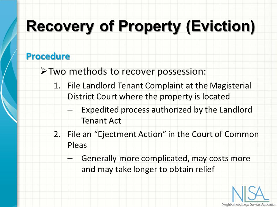recovery of possession of property You are at: home » legal advice » dearpao » summary action for recovery of possession of real property summary action for recovery of possession of real property 0.